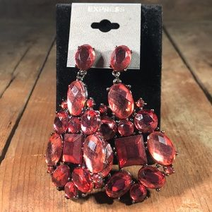 Express Brand Statement Red Earrings